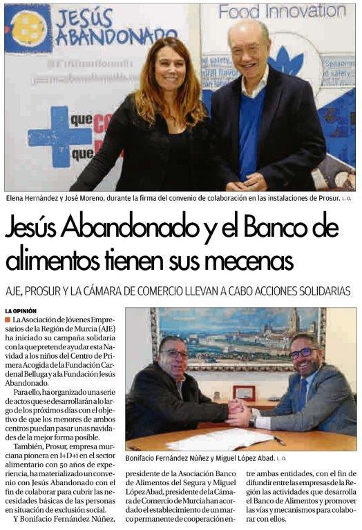 Firma convenio Prosur Jesus Abandonado