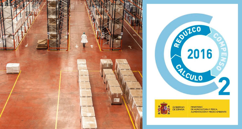 Prosur sello Huella de carbono 2016 calculo reduzco