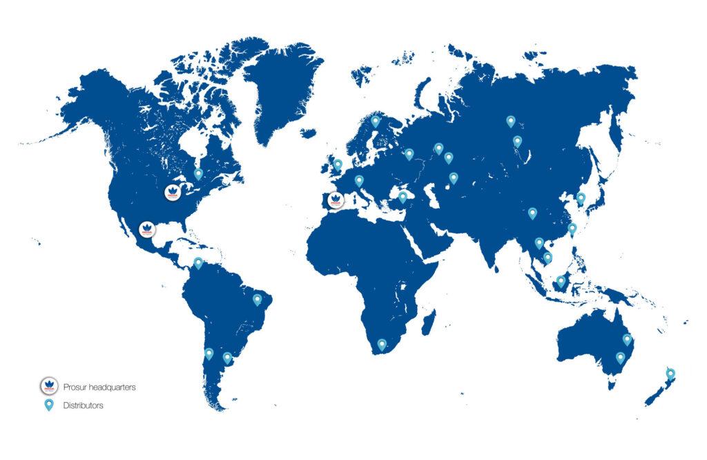 Prosur sales network map
