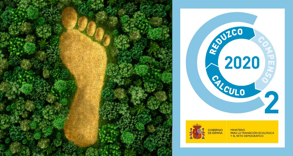 Carbon footprint reduction certificate Prosur 2020
